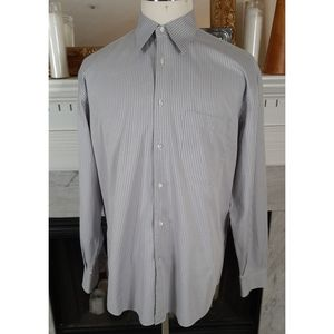 Corneliani Gray Striped Shirt Large